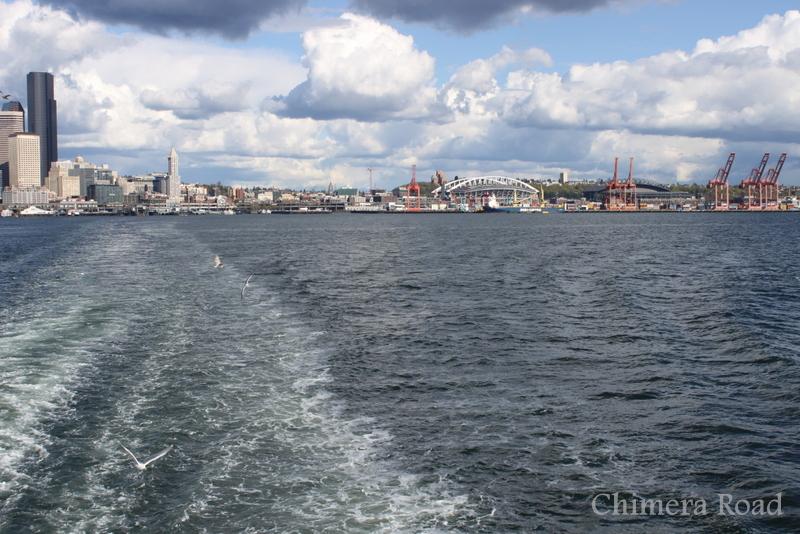 Seattle from the Bainbridge-bound ferry.
