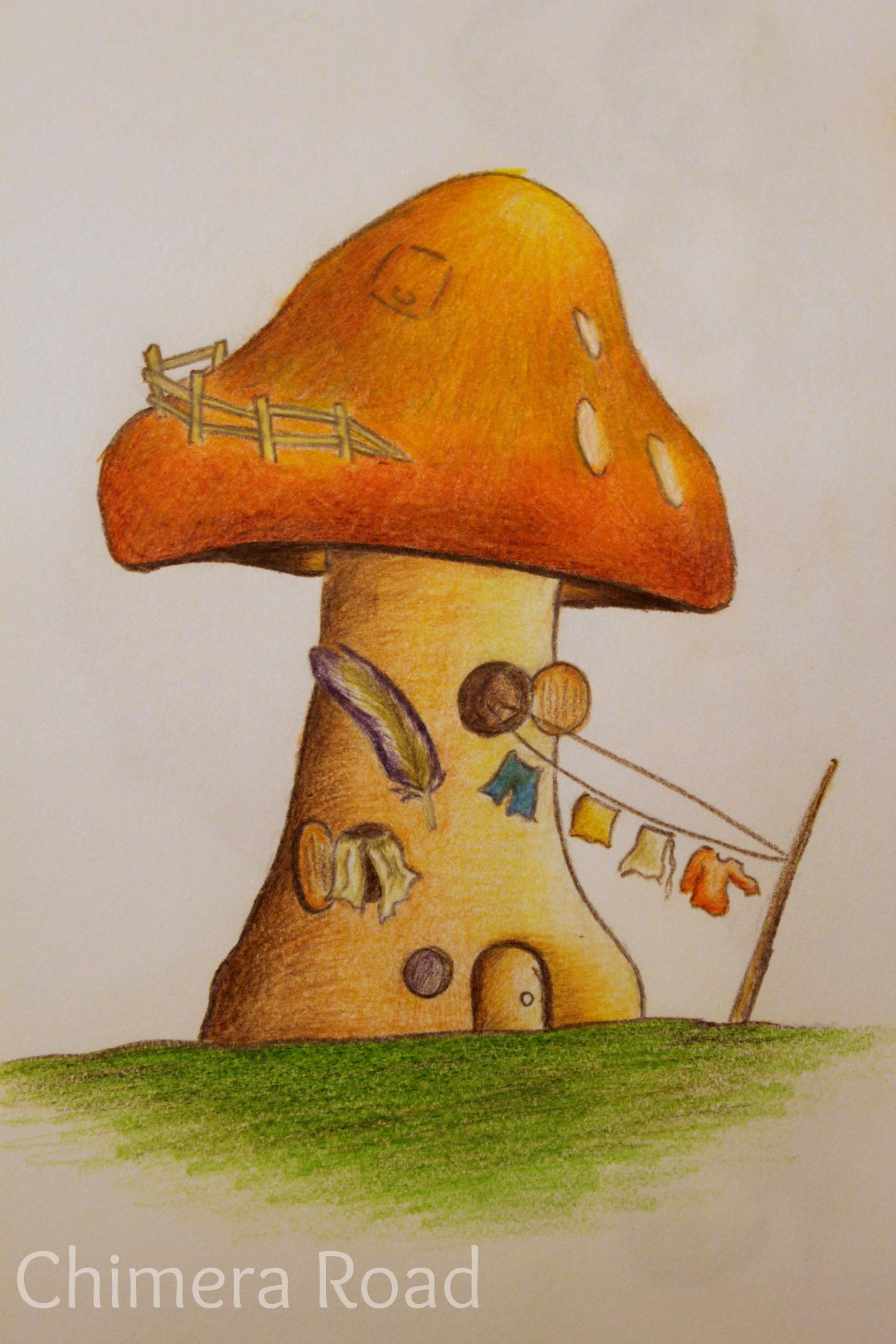 Hippie Mushroom | Dakota Midnyght Art (dakotamidnyght.com)
