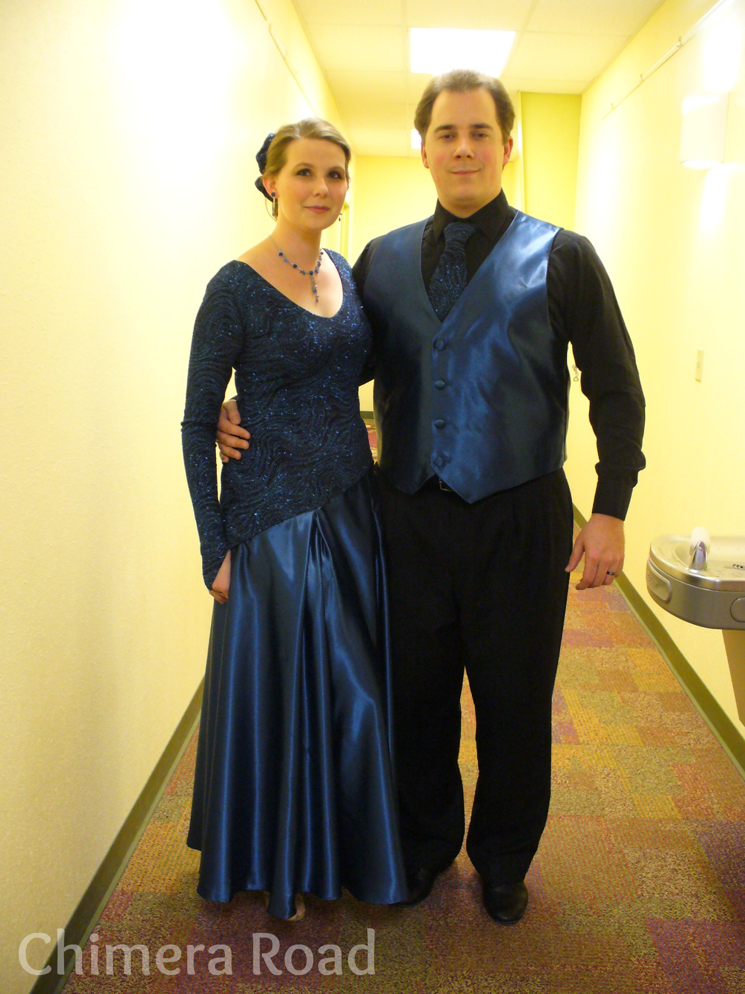 From back in our competition days... our waltz outfits! (Made by me!)