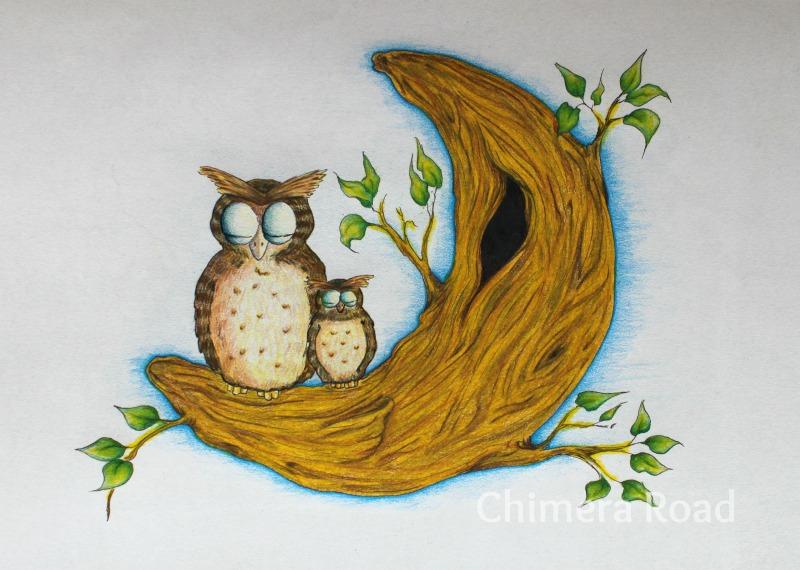 Lunar Owls | Dakota Midnyght Art (dakotamidnyght.com)