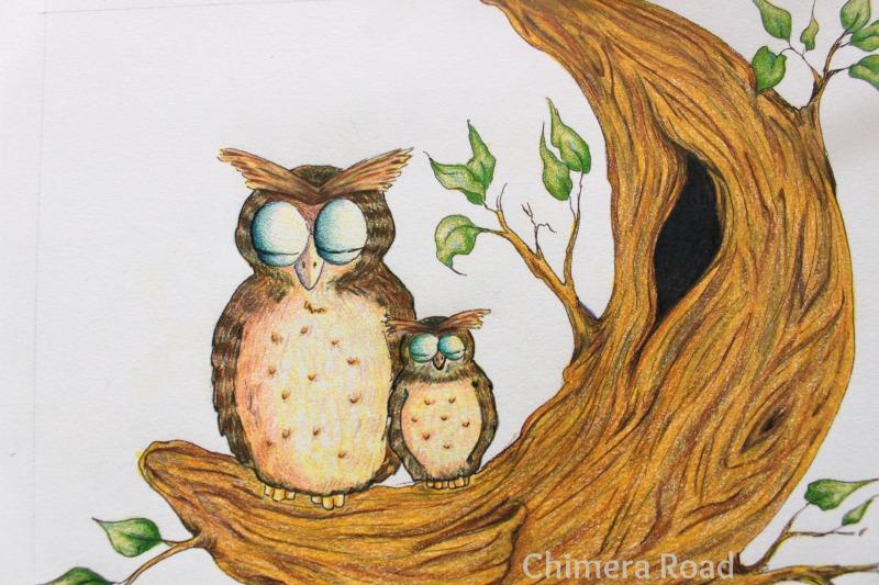 WIP Lunar Owls | Dakota Midnyght Art (dakotamidnyght.com)