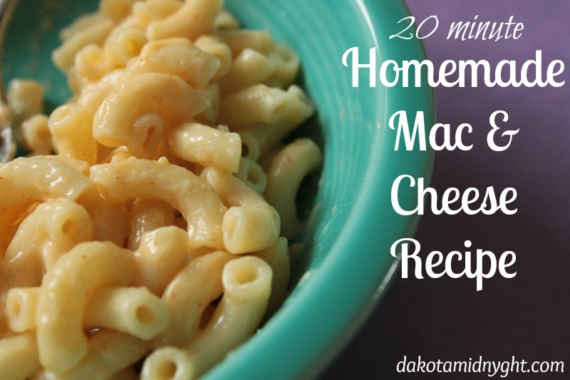 Easy 20 Minute Homemade Macaroni and Cheese recipe | DakotaMidnyght.com