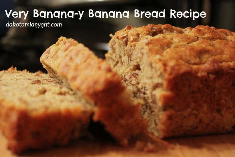 Very Banana-y Banana Bread Recipe | DakotaMidnyght.com