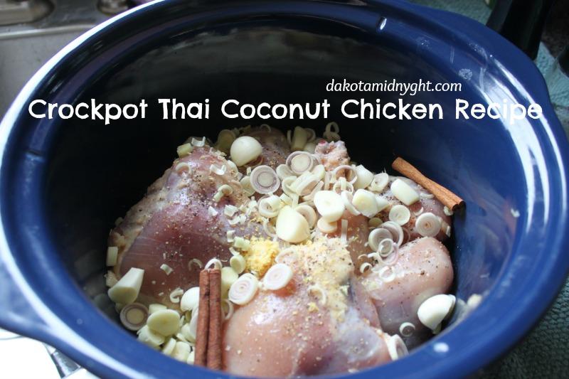 Crockpot Thai Chicken Recipe | DakotaMidnyght.com