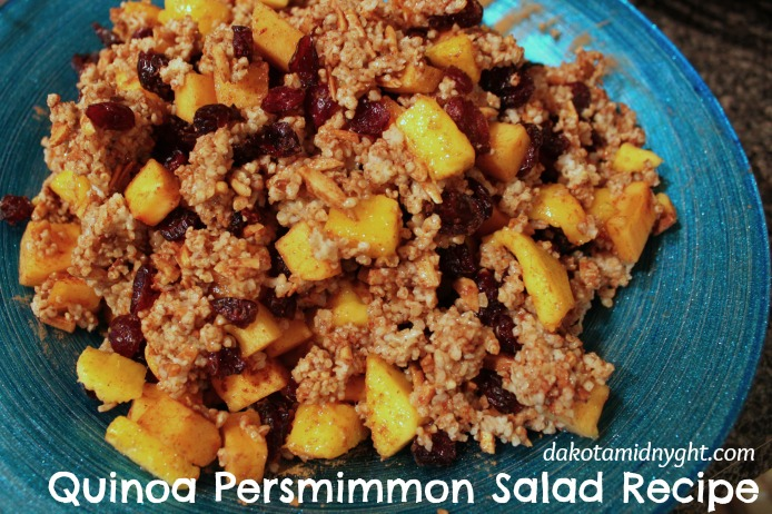 Quinoa Persimmon Salad Recipe | DakotaMidnyght.com