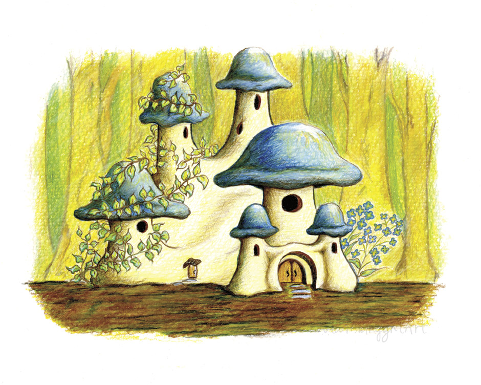 Mushroom Palace | DakotaMidnyght.com (Prints available at https://www.etsy.com/shop/dakotamidnyght)