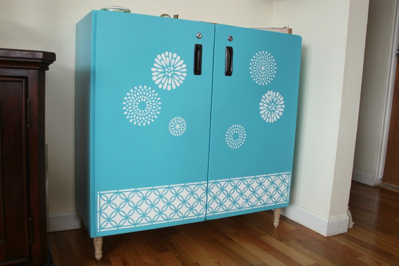Stenciled Cabinet 1
