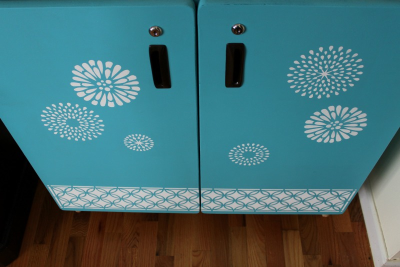 Stenciled Cabinet 3