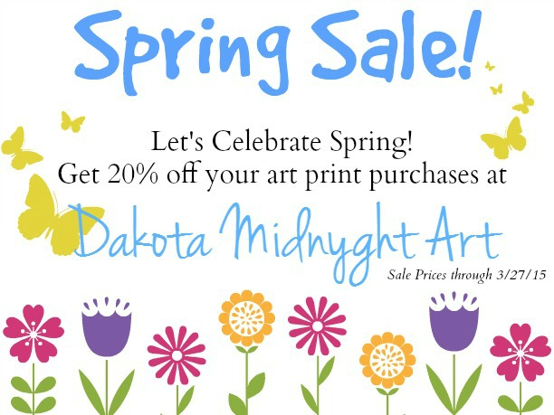 Dakota Midnyght Art Print Spring Sale