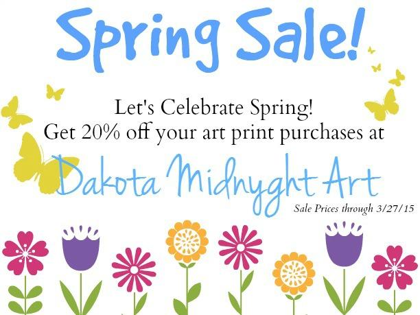 Dakota Midnyght Art Print Spring Sale