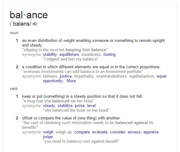 Value Balance Art Definition : Achieving flight a new definition of balance